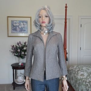 New Chico's Taupe Open front Crushed Jacket Size 0